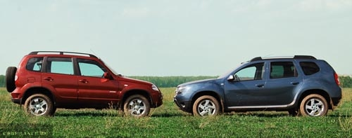 Renault Duster vs Chevrolet Niva: сравнение характеристик, фото, видео
